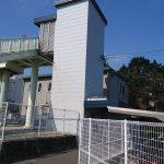 香椎線人道橋昇降機建屋設置工事1